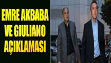 F.Bahçe'den Emre Akbaba ve Giuliano açıklaması