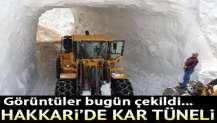Görüntüler bugün çekildi... Hakkari'de kar tünelleri açıldı