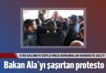 İçişleri Bakanı Efkan Ala'ya 'Ayakkabı kutusu' protestosu