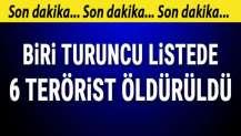 İçişleri Bakanlığı: Biri turuncu listedeki 6 terörist öldürüldü