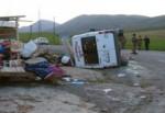 İşçileri taşıyan minibüs devrildi: 22 yaralı