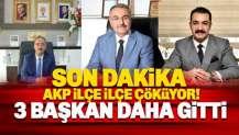 İstifalar sürüyor: AKP'de 3 ilçe başkanı daha gitti