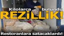 İzmir'de depoya baskın! Kilolarca sakatat ve pişirilmiş kelle