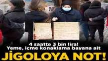 Jigoloya not! 4 saatte 3 bin lira