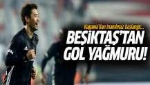 Kagawa'dan müthiş başlangıç! Beşiktaş'tan gol yağmuru: 6-2