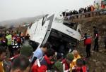 Karabük'te otobüs devrildi, ölü ve yaralılar var