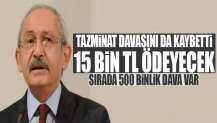 Kılıçdaroğlu'na 15 bin TL tazminat!