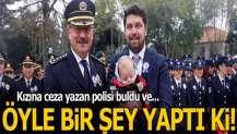 Kızına ceza yazan polisi böyle ödüllendirildi