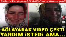Kütahya'da genç kadın ağlayarak video çekerek yardım istedi! Valilik'ten açıklama