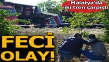 Malatya'da iki yük treni çarpıştı.