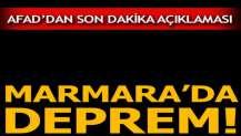 Marmara'da deprem! AFAD'dan açıklama geldi