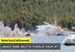 Marmaris'te 12 metrelik yelkenli teknede yangın çıktı