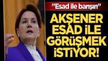 Meral Akşener, Esad ile görüşmek istiyor