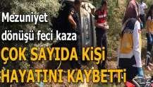 Mezuniyet dönüşü feci kaza! 4 kişi hayatını kaybetti