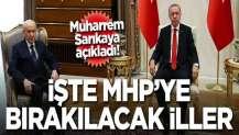 Muharrem Sarıkaya açıkladı: İşte AK Parti'nin MHP'ye bıraktığı iller