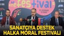 Sanatçıya destek halka moral festivali