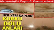 Şanlıurfa ve Mardin'de korku dolu anlar! Kum fırtınası hayatı felç etti