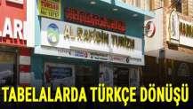 Tabelalarda Türkçe dönüşü