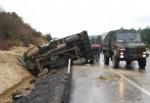 Tekirdağ'da askeri araç devrildi: 3 yaralı