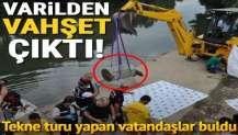 Tekne turu yapan vatandaşlar buldu... Irmaktaki varilden bacakları kesilmiş ceset çıktı
