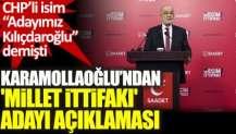 Temel Karamollaoğlu'ndan Millet İttifakı adayı açıklaması