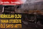 TIR'a çarpan yolcu otobüsü yandı... Çok sayıda ölü ve yaralı var