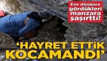 Trabzon'da eve dönen sahipleri inanamadı! 10 metrelik çukurla karşılaştılar