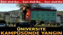 Trabzon'da üniversite kampüsünde yangın