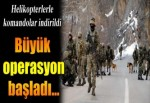 Tunceli'de hava destekli operasyon