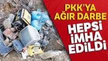 Tunceli'de 14 sığınak ve barınak imha edildi