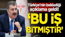 Türkiye'nin beklediği açıklama geldi! 'Bu iş bitmiştir'