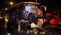 Uşak'ta yolcu otobüsü ile TIR çarpıştı! Ölü ve yaralılar var