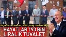 Yalova Belediyesi 193 bin liralık tuvaleti törenle açtı.