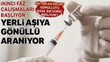 Yerli aşıya gönüllü aranıyor