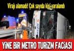 Yolcu otobüsü şarampole yuvarlandı: 22 yaralı