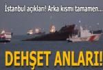 Zeytinburnu açıklarında demirleyen kuruyük gemisi batmaya başladı