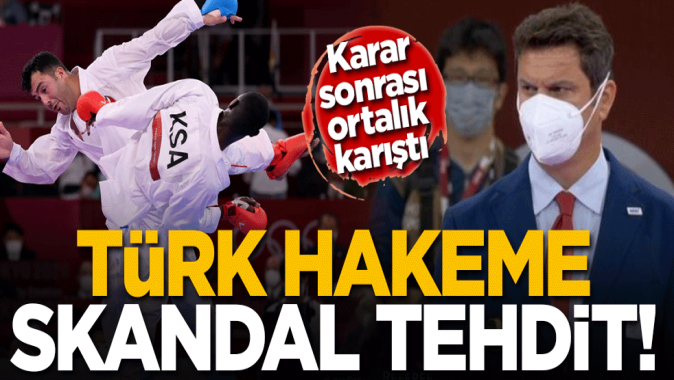 Tokyo2020'de skandal! Suudi sporcunun diskalifiyesini açıklayan Türk hakem Uğur Kobaş'a ölüm tehdidi