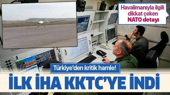 Türkiye'den ilk İHA KKTC'ye indi.