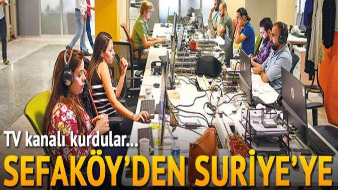 TV kanalı kurdular... Sefaköy'den Suriye yayını