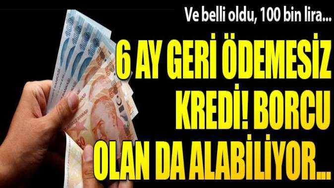Ucuz kredi fırsatı! 6 ay ödemesiz, 2 yıl vadeli 100 bin lira...