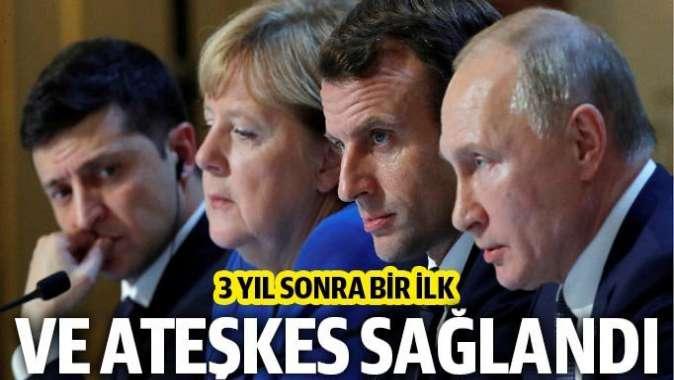 """Ukrayna'nın doğusunda """"tam ateşkes"""" konusunda anlaştılar"""