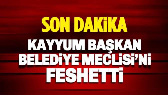 Van Kayyum Başkanı, Belediye Meclisini feshetti