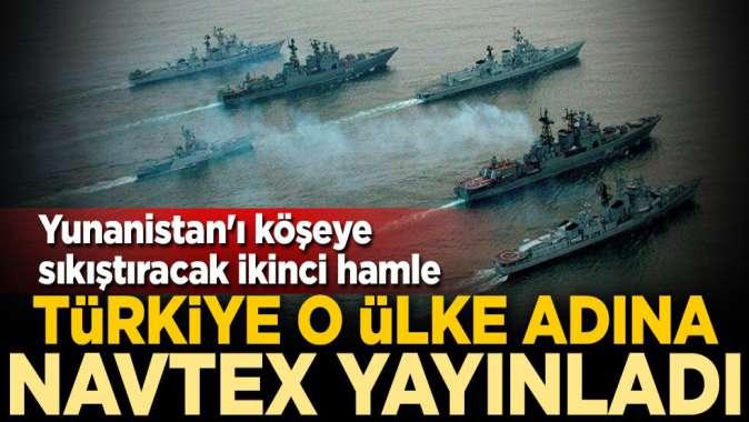 Yunanistanı köşeye sıkıştıracak ikinci hamle! Türkiye Rusya adına NAVTEX yayınladı