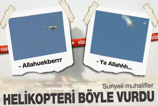 Suriye'li muhalifler askeri helikopter düşürdü!